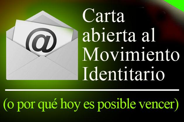 Carta abierta a los identitarios