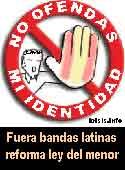 Recojamos firmas contra las bandas latinas