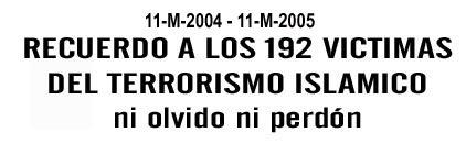 PRIMER ANIVERSARIO DE LA MASACRE ISLAMISTA