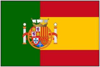 bandera españa portugal